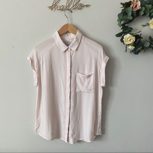 Rails Pink Striped Collared Button Down Shirt